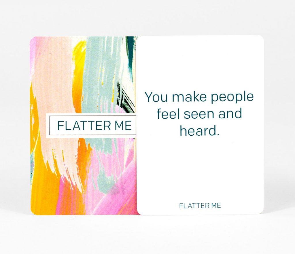Kickstarting Flatter Me: A Compliment Battle Card Game